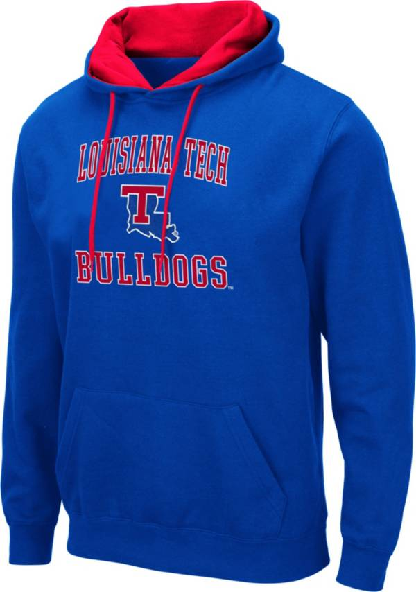 Colosseum Men's Louisiana Tech Bulldogs Blue Pullover Hoodie product image