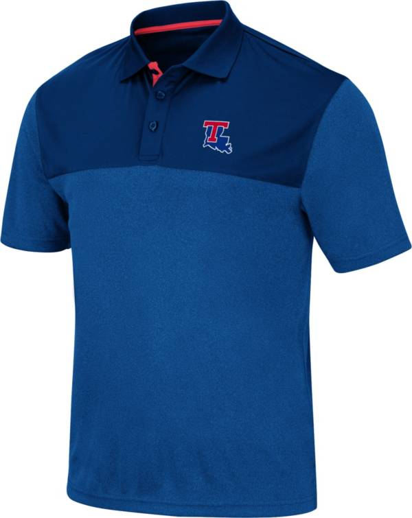 Colosseum Men's Louisiana Tech Bulldogs Blue Links Polo product image