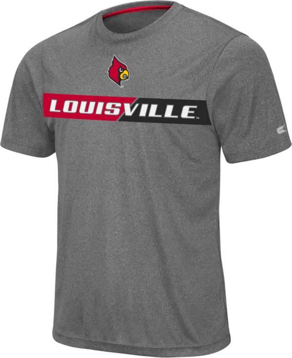 Colosseum Men's Louisville Cardinals Grey Bait T-Shirt product image