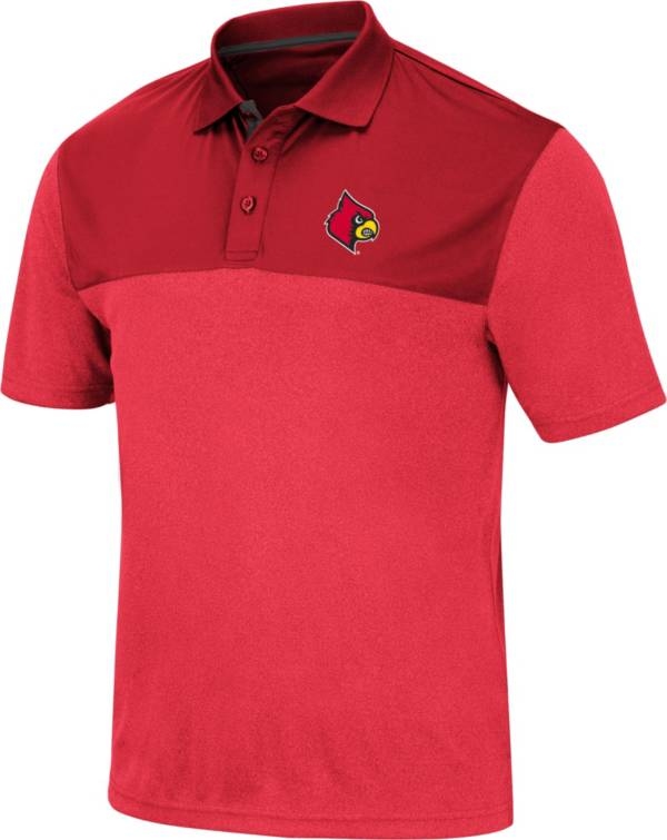 Colosseum Men's Louisville Cardinals Cardinal Red Links Polo product image