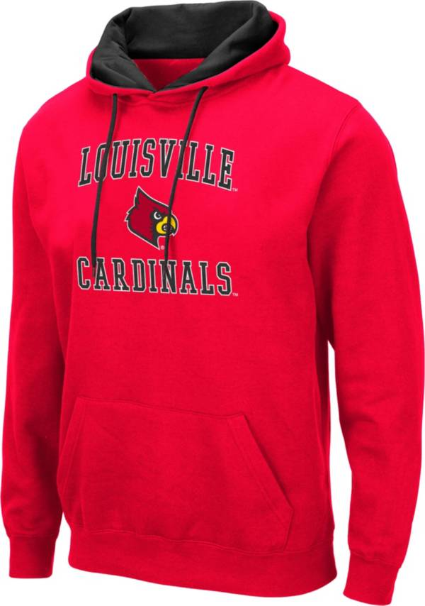 Colosseum Men's Louisville Cardinals Cardinal Red Pullover Hoodie product image