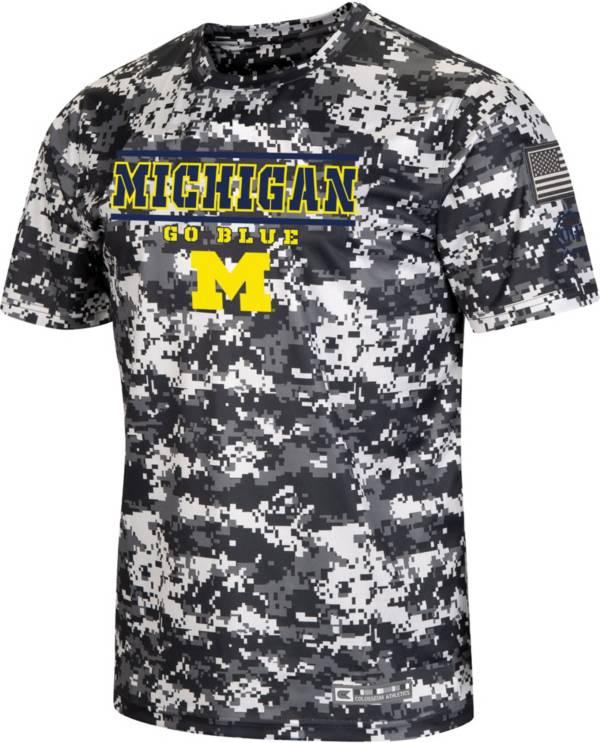 Colosseum Men's Michigan Wolverines Camo OHT T-Shirt product image