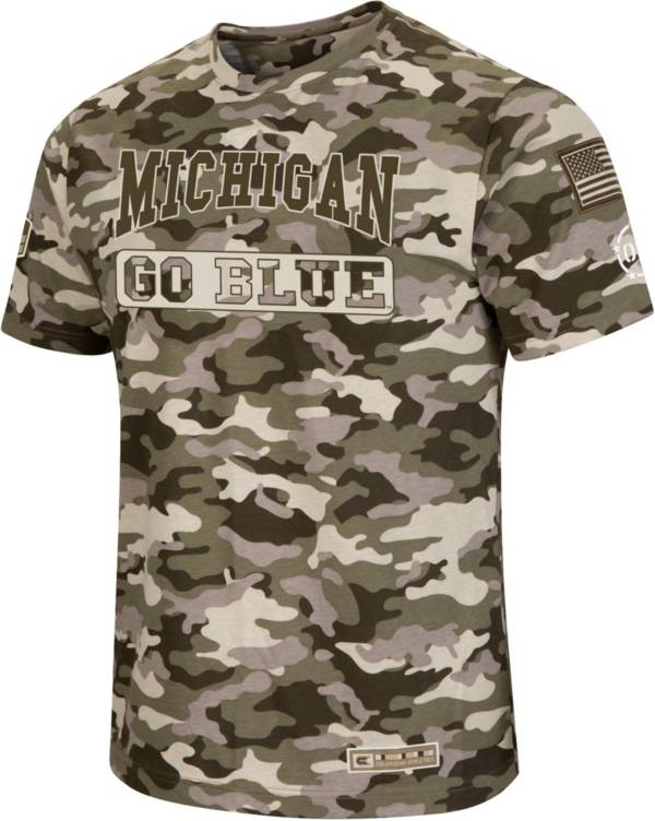 Colosseum Men's Michigan Wolverines Camo OHT Terrain T-Shirt product image