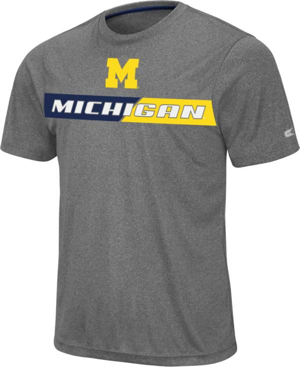 Colosseum Men's Michigan Wolverines Grey Bait T-Shirt product image