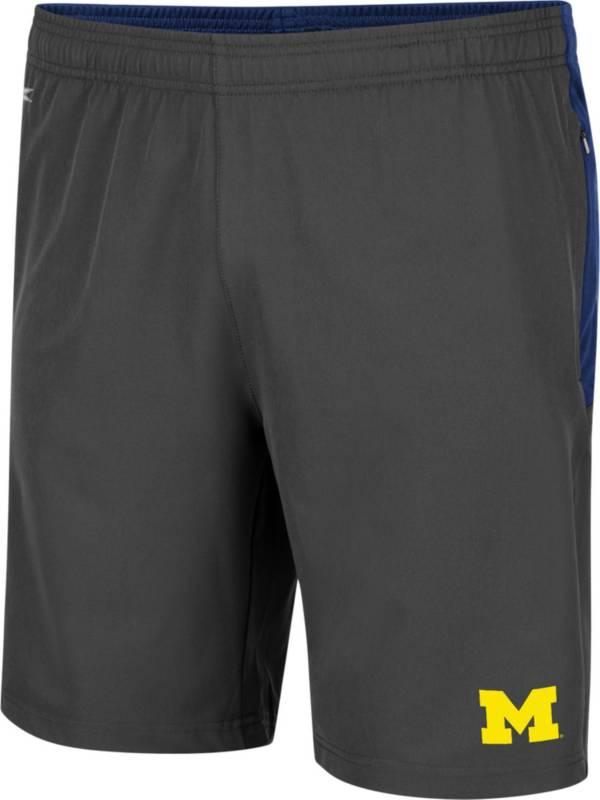 Colosseum Men's Michigan Wolverines Grey Jean-Ralphio Shorts product image