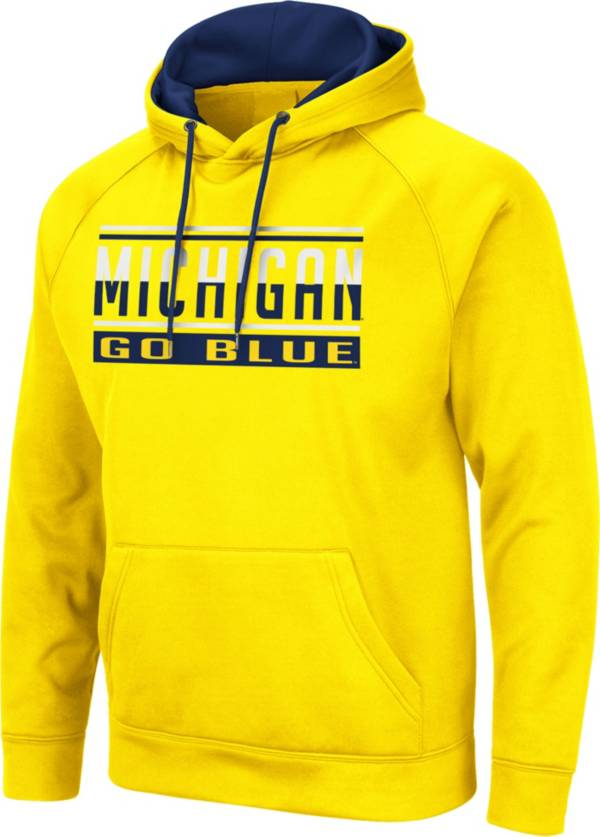 Colosseum Men's Michigan Wolverines Maize Pullover Hoodie product image