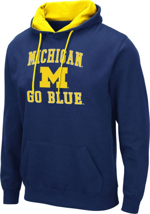 Colosseum Men's Michigan Wolverines Blue Pullover Hoodie product image