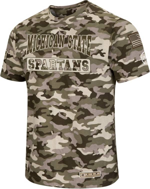 Colosseum Men's Michigan State Spartans Camo OHT Terrain T-Shirt product image