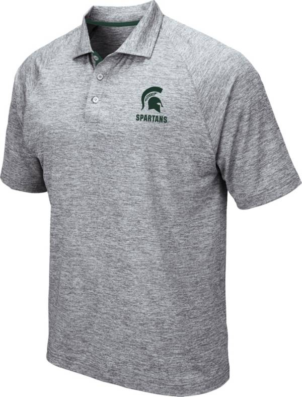 Colosseum Men's Michigan State Spartans Grey Wedge Polo product image