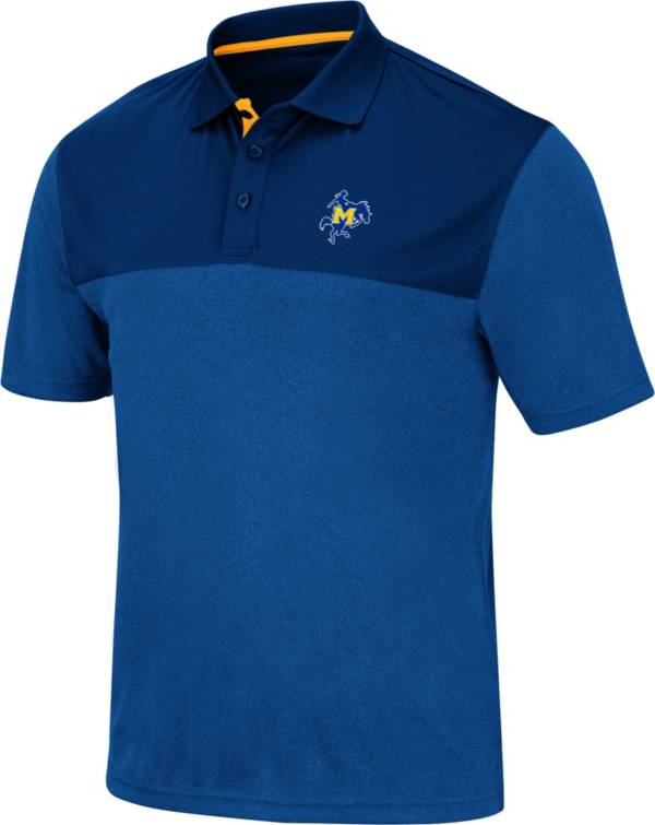 Colosseum Men's McNeese State Cowboys Royal Blue Links Polo product image