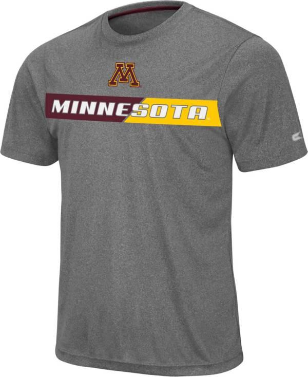 Colosseum Men's Minnesota Golden Gophers Grey Bait T-Shirt product image