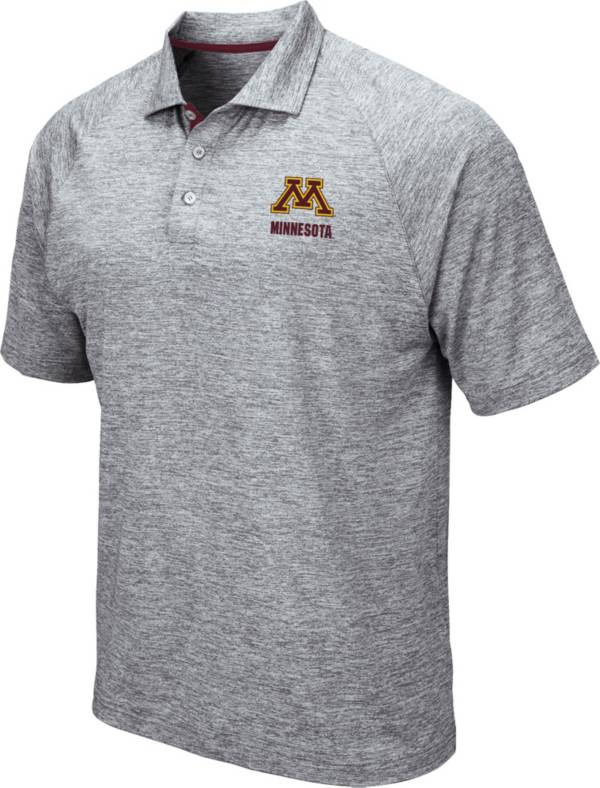 Colosseum Men's Minnesota Golden Gophers Grey Wedge Polo product image