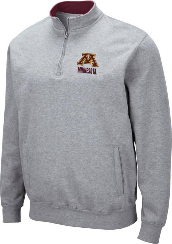 Colosseum Men's Minnesota Golden Gophers Grey Fleece Quarter-Zip Shirt product image