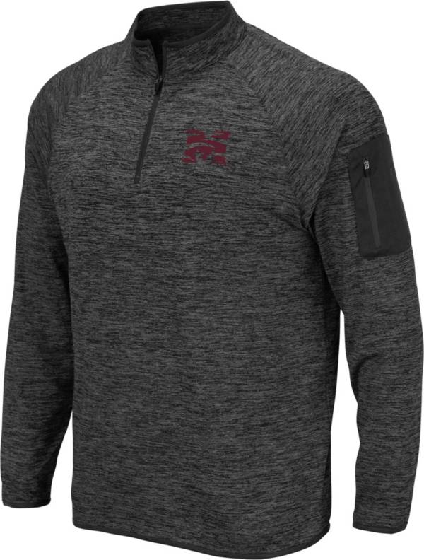 Colosseum Men's Morehouse College Maroon Tigers Grey Quarter-Zip Pullover product image