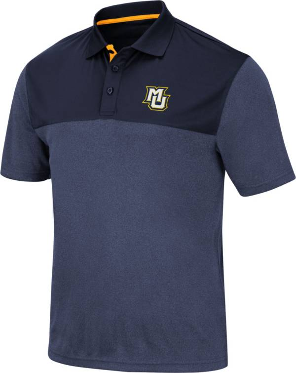 Colosseum Men's Marquette Golden Eagles Blue Links Polo product image