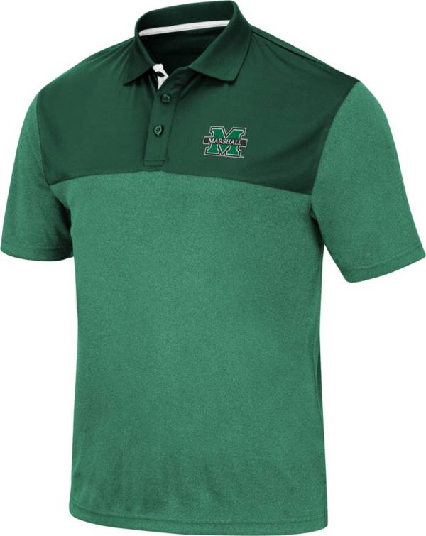 Colosseum Men's Marshall Thundering Herd Green Links Polo product image
