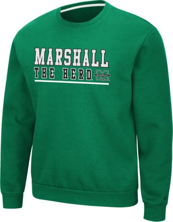 Colosseum Men's Marshall Thundering Herd Green Rally Crewneck Sweatshirt product image