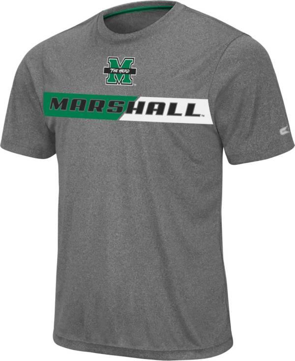 Colosseum Men's Marshall Thundering Herd Grey Bait T-Shirt product image