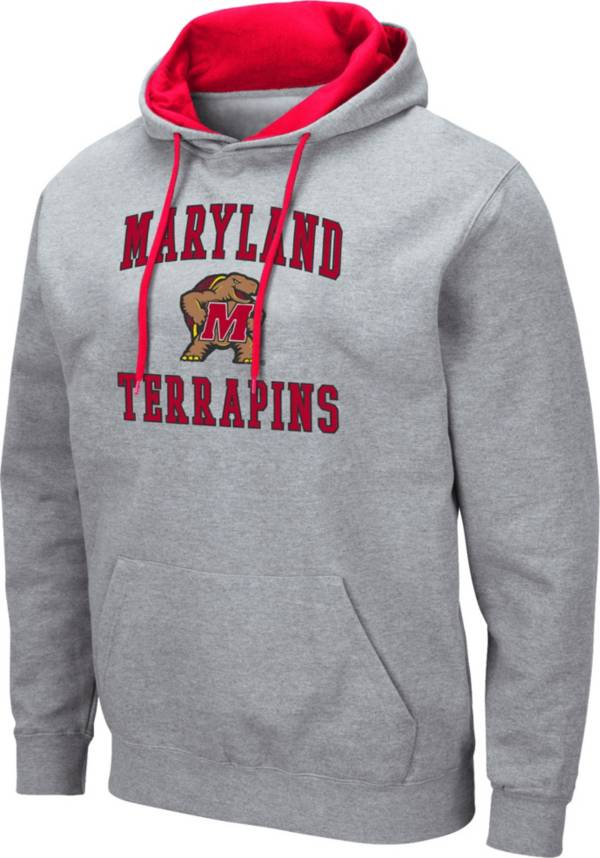 Colosseum Men's Maryland Terrapins Grey Pullover Hoodie product image