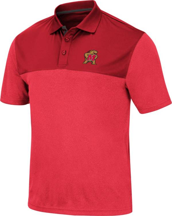 Colosseum Men's Maryland Terrapins Red Links Polo product image