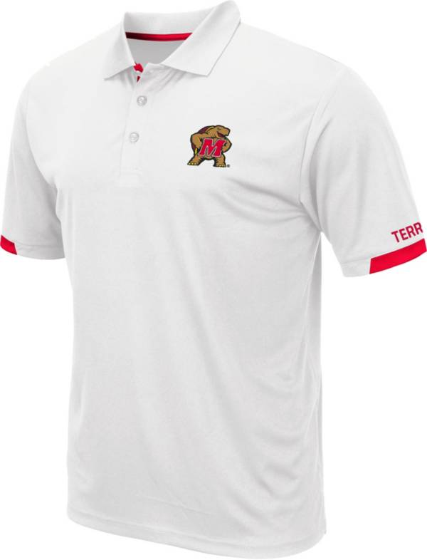 Colosseum Men's Maryland Terrapins Fore White Polo product image