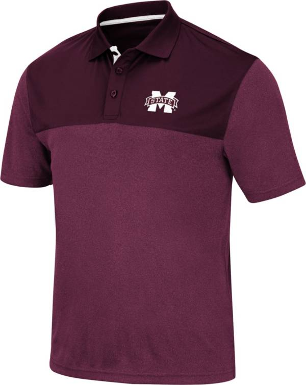 Colosseum Men's Mississippi State Bulldogs Maroon Links Polo product image