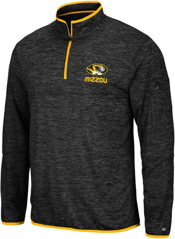 Colosseum Men's Missouri Tigers Slub Quarter-Zip Black Shirt product image