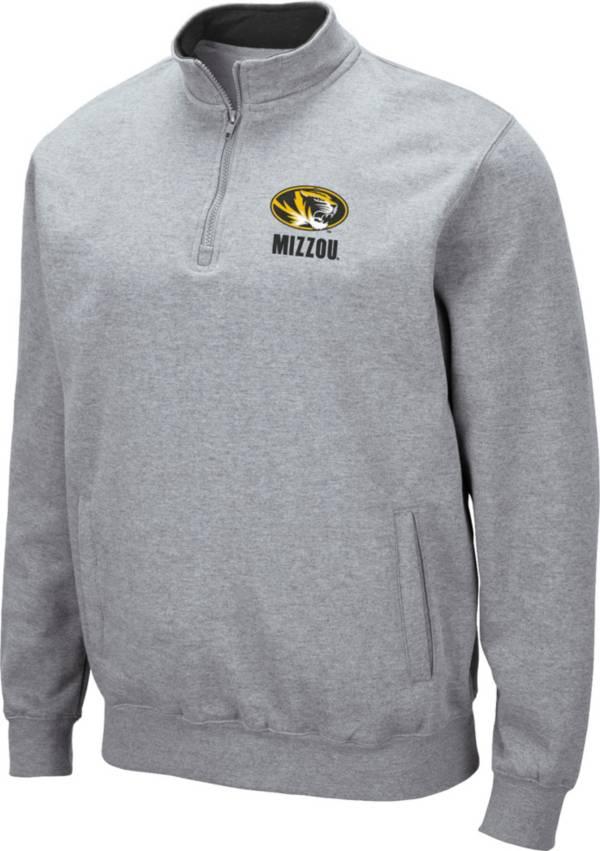 Colosseum Men's Missouri Tigers Grey Fleece Quarter-Zip Shirt product image