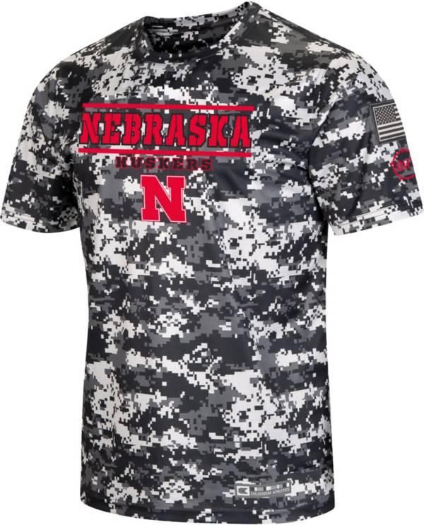 Colosseum Men's Nebraska Cornhuskers Camo OHT T-Shirt product image