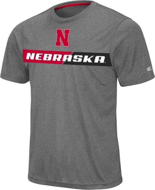 Colosseum Men's Nebraska Cornhuskers Grey Bait T-Shirt product image