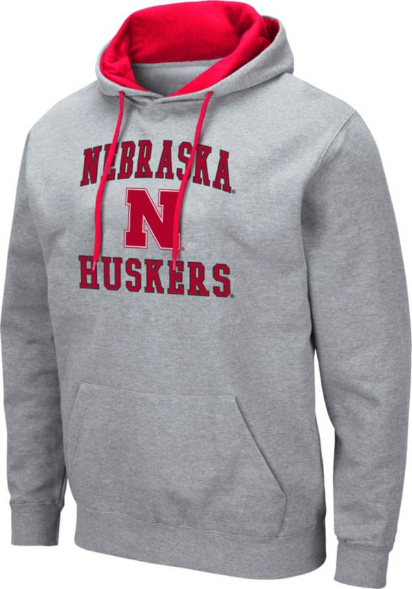 Colosseum Men's Nebraska Cornhuskers Grey Pullover Hoodie product image