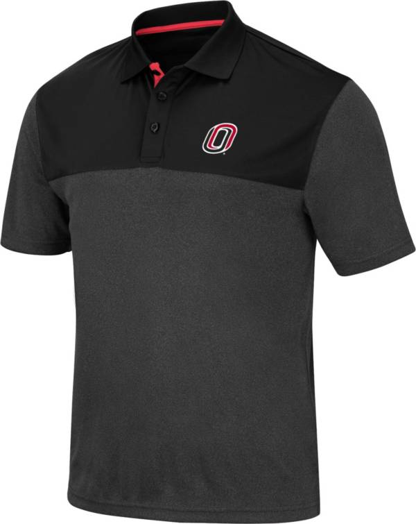 Colosseum Men's Nebraska-Omaha Mavericks Links Black Polo product image