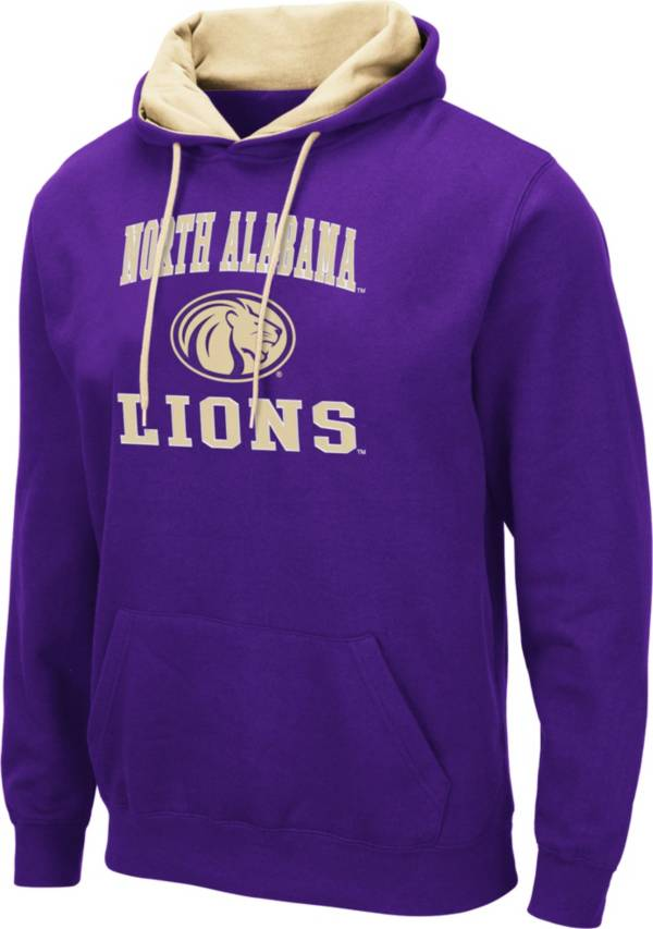 Colosseum Men's North Alabama  Lions Purple Pullover Hoodie product image