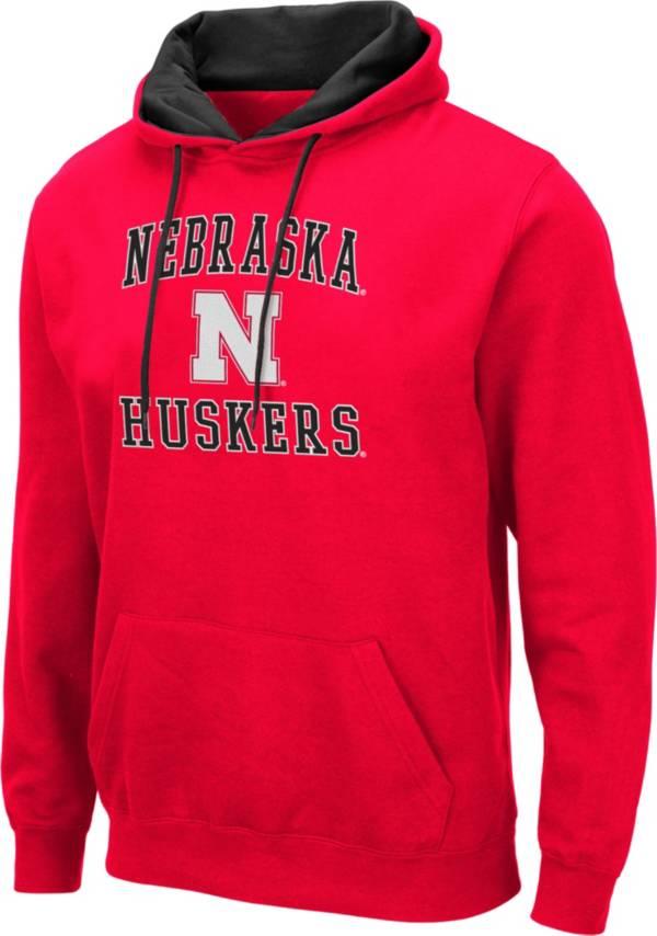 Colosseum Men's Nebraska Cornhuskers Scarlet Pullover Hoodie product image