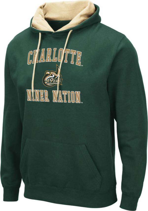 Colosseum Men's Charlotte 49ers Green Pullover Hoodie product image