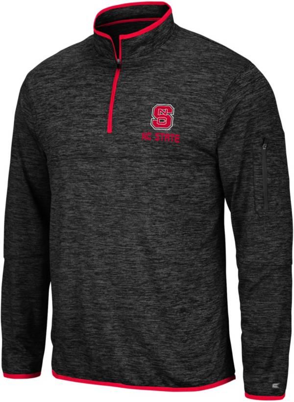 Colosseum Men's NC State Wolfpack Slub Quarter-Zip Black Shirt product image