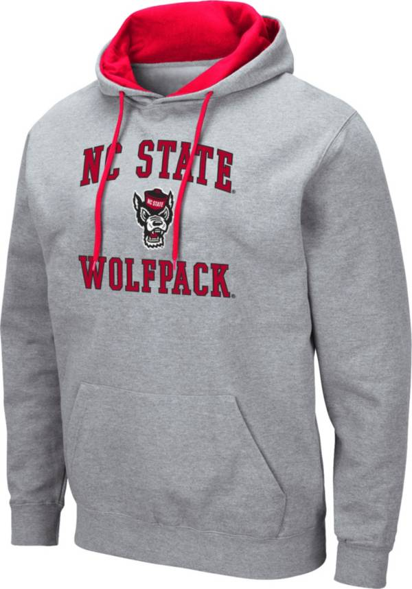Colosseum Men's NC State Wolfpack Grey Pullover Hoodie product image