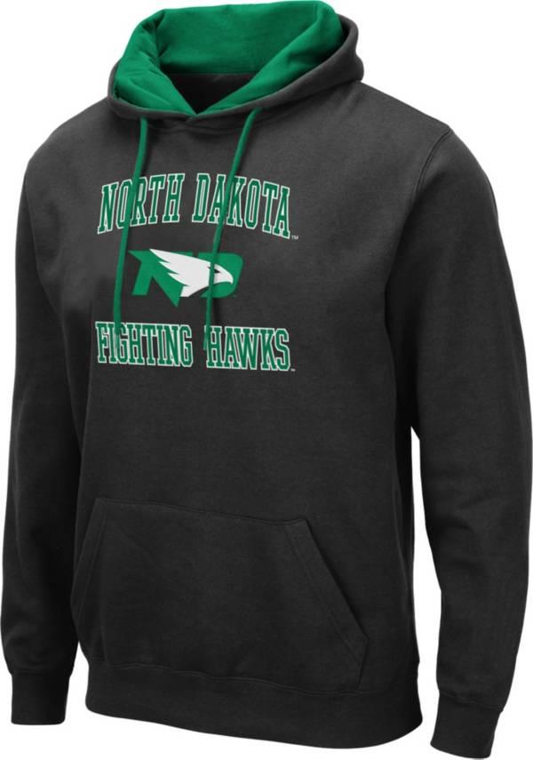 Colosseum Men's North Dakota Fighting Hawks Pullover Black Hoodie product image