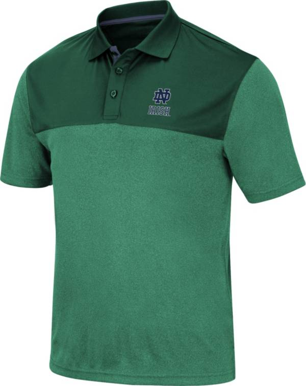 Colosseum Men's Notre Dame Fighting Irish Green Links Polo product image