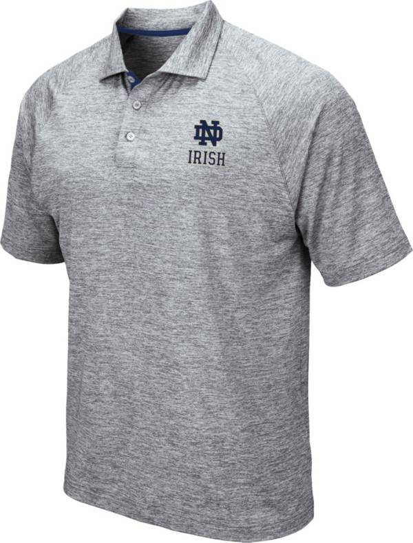 Colosseum Men's Notre Dame Fighting Irish Grey Wedge Polo product image