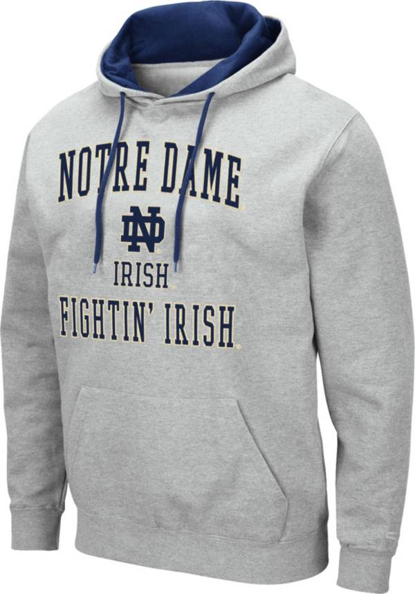 Colosseum Men's Notre Dame Fighting Irish Grey Pullover Hoodie product image