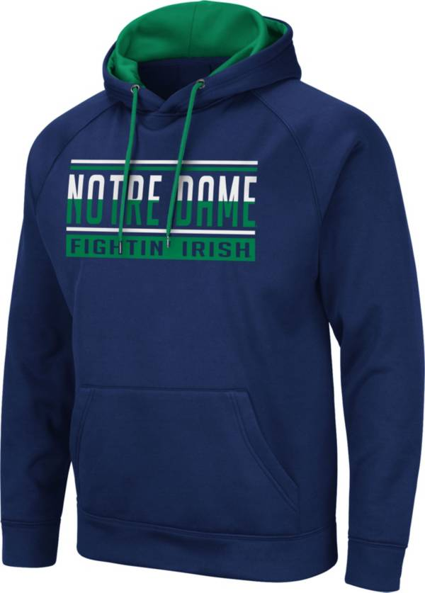 Colosseum Men's Notre Dame Fighting Irish Navy Pullover Hoodie product image