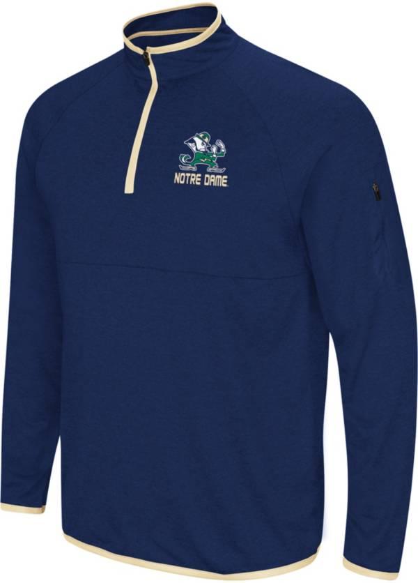 Colosseum Men's Notre Dame Fighting Irish Navy Rival Quarter-Zip Shirt product image