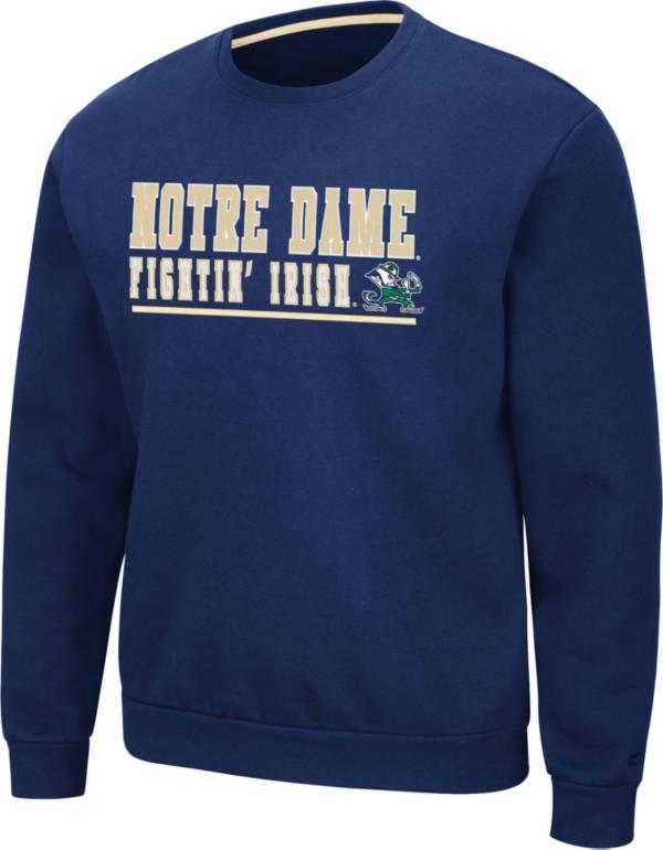Colosseum Men's Notre Dame Fighting Irish Navy Rally Crewneck Sweatshirt product image