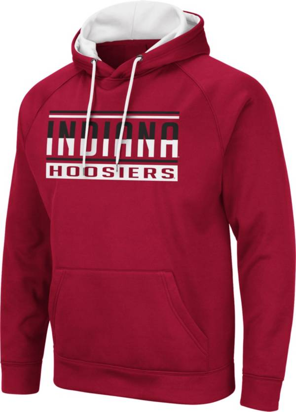 Colosseum Men's Indiana Hoosiers Crimson Pullover Hoodie product image