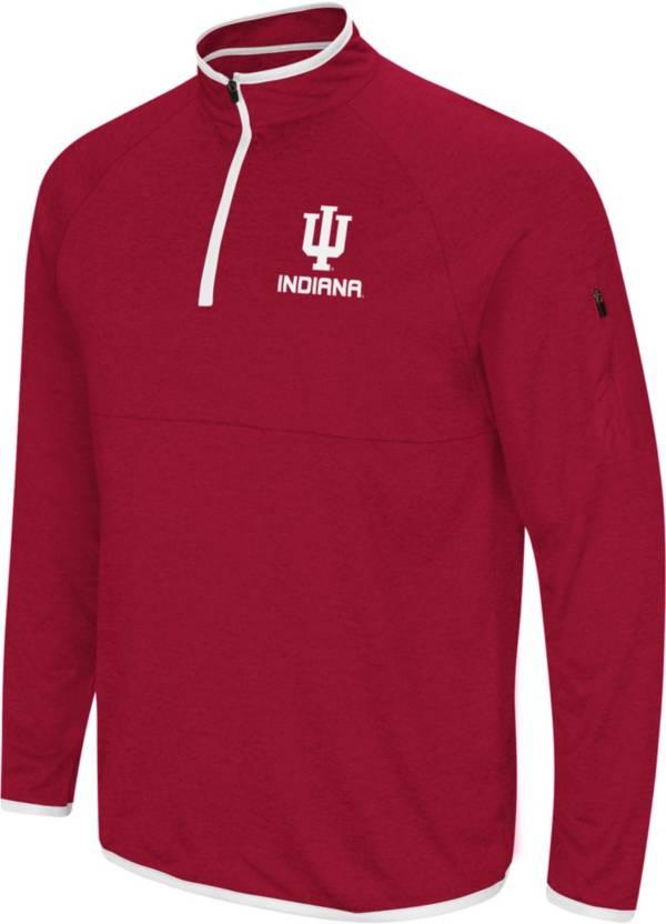 Colosseum Men's Indiana Hoosiers Cardinal Rival Quarter-Zip Shirt product image
