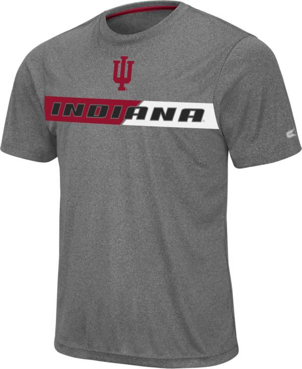 Colosseum Men's Indiana Hoosiers Grey Bait T-Shirt product image