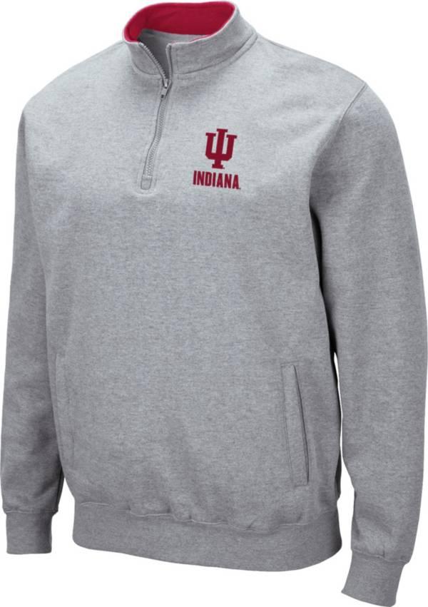 Colosseum Men's Indiana Hoosiers Grey Fleece Quarter-Zip Shirt product image