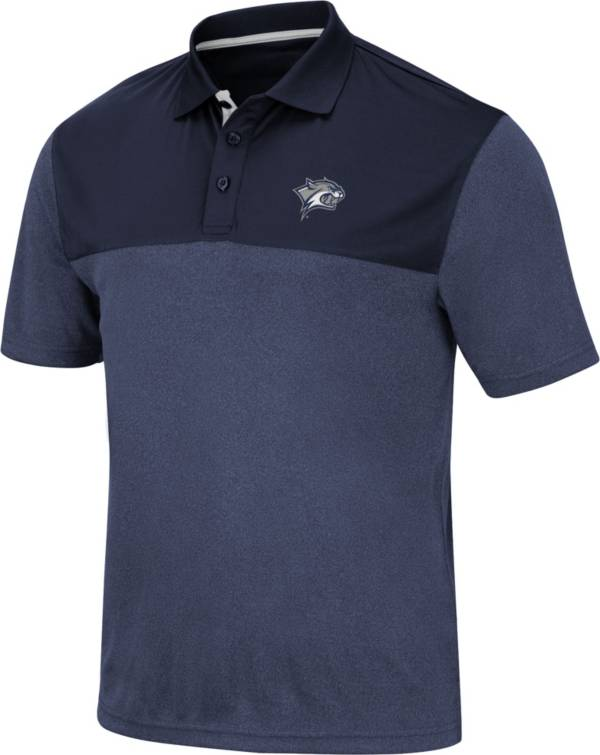 Colosseum Men's New Hampshire Wildcats Blue Links Polo product image