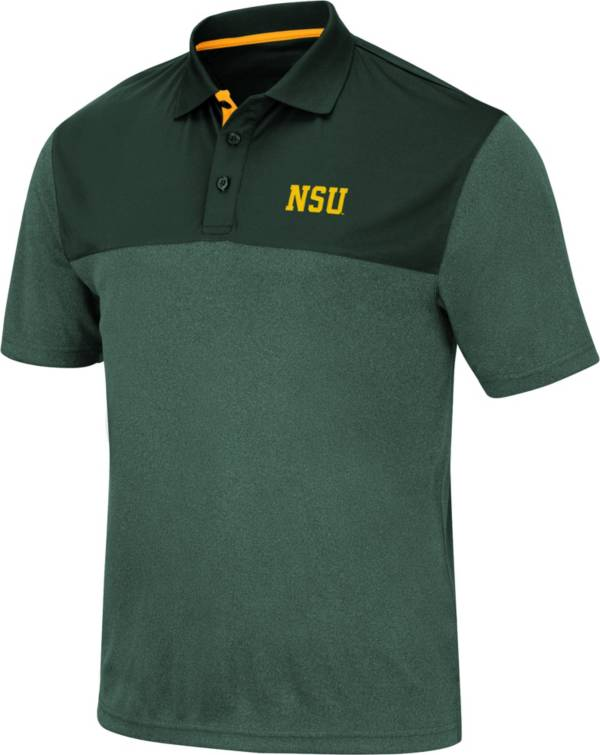 Colosseum Men's Norfolk State Spartans Green Links Polo product image